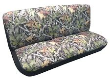 Camo Seat Cover Bench Classic Vintage For Dodge Trucks 60s 70's 80's Forest Gray