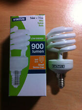 14w 70w SES E14 Small Screw In Energy Saver Spiral CFL Bulb Lamp Warm White x 2
