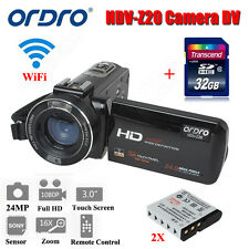 "Ordro 24MP 3.0"" LCD Digital Video Camera Camcorder DV Full HD 1080P 32GB+Battery"