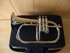 "Brand New Silver Bb Flugel Horn With Free""Hard Case+Mouthpiece"