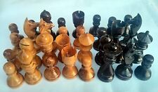 Medium Olive Wood Chess Set Pieces Made in Jerusalem