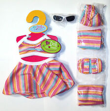 """18"""" Doll Clothes - 7 Piece Beach Outfit - AG Size - New!"""