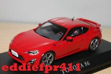 1/43 2012 TOYOTA 86 GT LIMITED COUPE IN LIGHTNING RED BY KYOSHO J COLLECTION LHD
