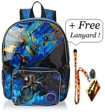 "How To Train Your Dragon Cartoon Backpack 16"" with LUNCH Box Bag Kit School Sets"