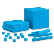 Base Ten Blocks Maths Set - Plastic Hundreds, Tens, Units & Photocopiable Book