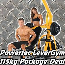 POWERTEC LeverGym + 115kgs Weights WB-LS16 PACKAGE Home Gym Bench Press Squat