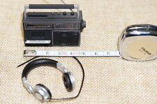 """1/6 Scale Headphone Cassette Tape Recorder Toy Model For 12"""" Action Figure Doll"""