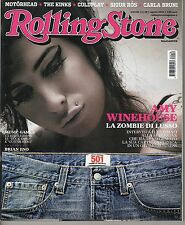 Rivista ROLLING STONE ANNO 2008  NUMERO 58 - AMY WINEHOUSE - THE KINKS -COLDPLAY