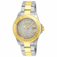 Invicta 22709 Lady's Silver Dial Two Tone Bracelet Dive Watch