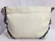 Coach Carly Hobo White Leather w/ Gray Accent Shoulder Bag Handbag #K1073-F15251