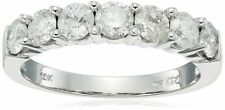 10k White Gold 7-Stone Diamond Ring (1 cttw, H-I Color, I2-I3 Clarity) Size 8