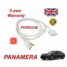 PORSCHE PANAMERA CDR-31 Audio System iPhone 3GS 4 4S iPod USB & Aux Cable white