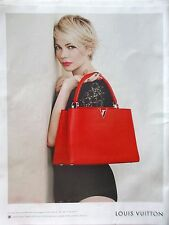 PUBLICITE   LOUIS VUITTON     SAC ROUGE     REF 7912