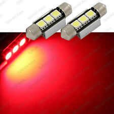 Brilliant Red 3-SMD 6418 C5W Error Free LED Bulbs For European Cars (2 Pieces)