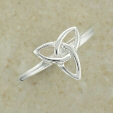 Irish Celtic Sterling Silver Trinity Ring SZ 8