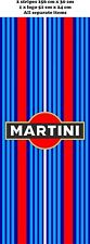Le Mans Martini style x 2 Stripe 156 CM, and 1 X logo Sticker decal A648G