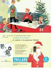 PUBLICITE ADVERTISING 126  1957  caméra projecteur Paillard Bolex par  camps