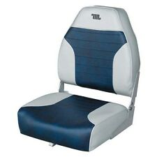 Wise Boat Seats Premium High Back Bass Boat Seat Grey/Navy