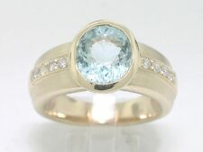 Paraiba Turmalin Ring 585 Gelbgold 14Kt Gold Paraibaturmalin 2,52ct 8 Brillanten