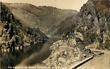 c1930 RPPC; Box Canyon of the Salmon River, North & South Highway ID Barker's