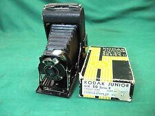 1930's KODAK JUNIOR SIX-20 Series II Folding Camera + Box