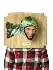 Adult Fish Bass Trophy Plaque Headpiece Fancy Dress Costume Ladies BN