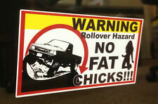 2 For 1 Roll Over Hazzard Decal funny sticker Toyota Tundra Pickup 4x4 off road