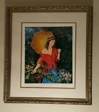 After The Rain  LIMITED EDITION Framed 74/375 Serigraph by Igor Semeko Certified