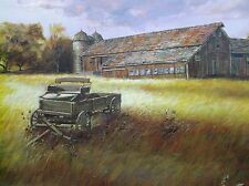 John Bruce Original painting of the Dramatic landscape of the American farm land