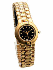 CHARLES DELON ONE MICRON 22K GOLD ELECTRO PLATED FINISH WATCH BRACELET WITH DATE