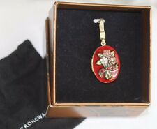 JAY STRONGWATER Swarovski JULY RUBY Red Enamel Birthstone Picture Frame Locket
