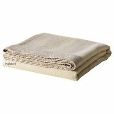 "Ikea Henrika 71 x 47"" Soft Throw Blanket or Bedspread, Light Beige Tan"