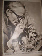 Photo article model ship building a Cairo class crusier 1956 ref Z