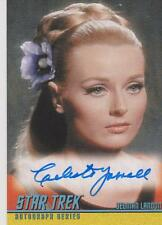 STAR TREK ORIGINAL SERIES CELESTE YARNALL AS YEOMAN LANDON AUTOGRAPH CARD A165