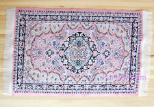 """Dollhouse Miniature Embroidered Carpet Rug Pink  6""""x10""""  New Arrivals #OR207"""