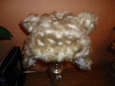 GIRLS MARKS AND SPENCER FUR ANIMAL PRINT HAT, 6-18 Mths, BNWT