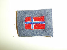 b5286 WW 2 Norway Air Force Arm Shield Norwegian Flag on gray C10A9