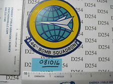 USAF Air Force 46th BOMB Squadron Patch STICKER