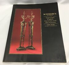Sotheby's NY Important English Furniture & Decorations Auction Catalog 1/22/1994