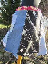 ReFuNk uPcycle Handmade Denim Jeans Recycle Levis Skirt fray uneven hem vintage