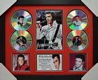ELVIS AARON PRESLEY 4CD SIGNED FRAMED MEMORABILIA LIMITED EDITION