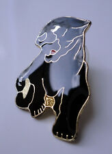 ZP289 Black Panther Cat Enamel Lapel Pin Badge Brooch Style 2