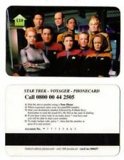 télécartes Anglaise Star trek VOYAGER Equipage