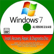 WINDOWS 7 INSTALLATION REINSTALL REPAIR ALL VERSIONS 32/64 BIT NEW BOOTABLE DVD