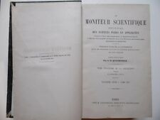 Le Moniteur Scientifique/Journal Sciences Pures et Appliquées/Quesneville/1878