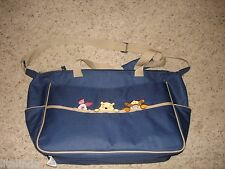 WINNIE THE POOH BLUE LARGE TOTE TRAVEL DIAPER BAG  NWOT