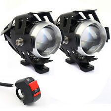 2pc High Power 125W CREE U5 LED Motorcycle Spot Light Driving Headlight Fog Lamp