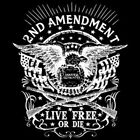 Live Free Or Die 2nd Amendment Rifles Guns Crest Patriotic T-Shirt Tee