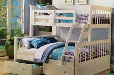 Bunk bed Only Double /single  Trio Bunk white Or A/oak    SOLID NEW