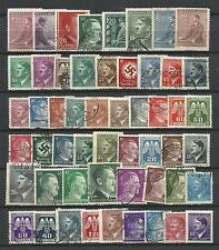 GERMANY ADOLF HITLER ERA STAMP COLLECTION PACKET 50 DIFFERENT Stamps Mint & Used